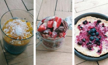 3 tipy na zdravé sladké snídaně