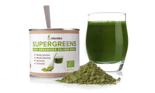 Blendea SUPERGREENS, zelená směs plná bio superpotravin